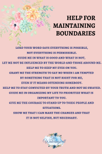 Boundaries necessary protection
