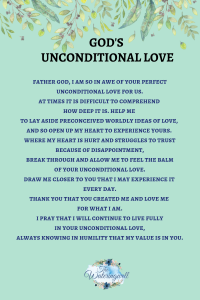 Unconditional love of God