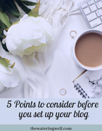 Start a blog for reward: Before you begin